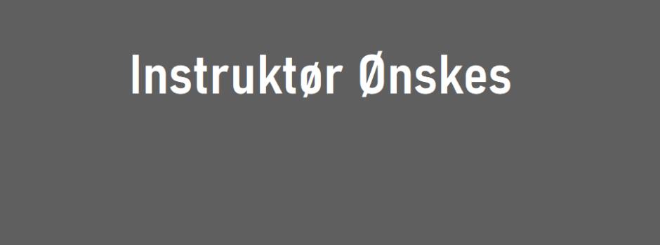 Instruktør til GymX Styrke ønskes!